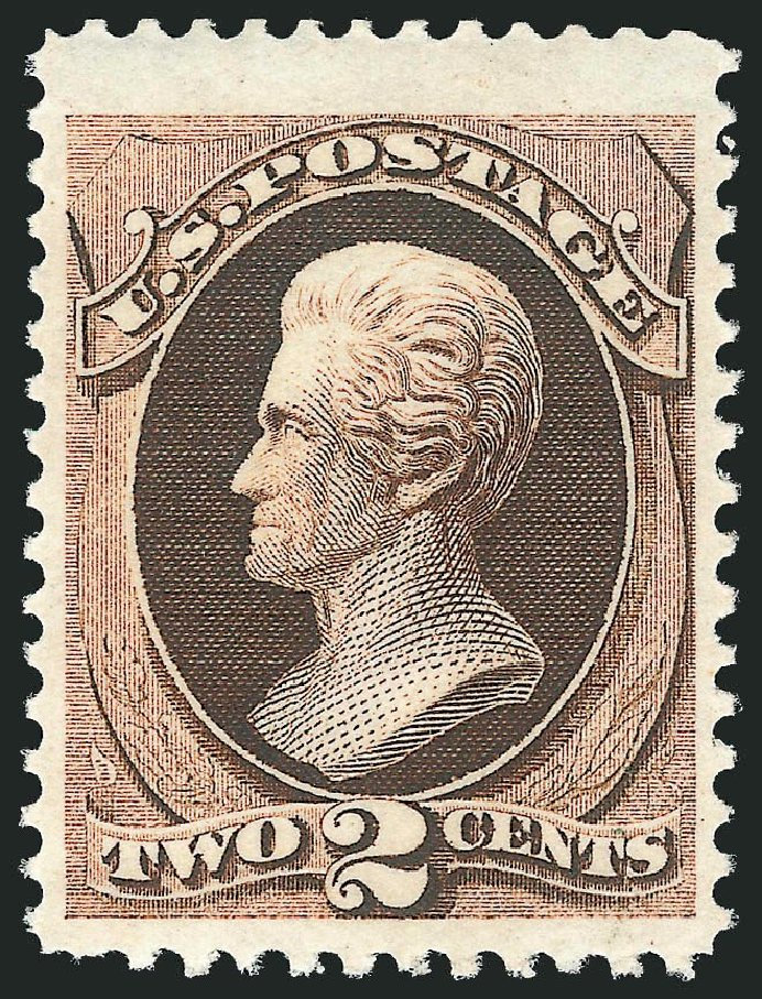 Costs of US Stamp Scott Catalogue #157 - 2c 1873 Jackson Continental. Robert Siegel Auction Galleries, Dec 2014, Sale 1090, Lot 1327