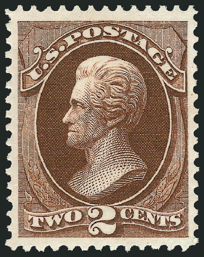Values of US Stamps Scott Catalog #157 - 1873 2c Jackson Continental. Robert Siegel Auction Galleries, Feb 2015, Sale 1092, Lot 1127