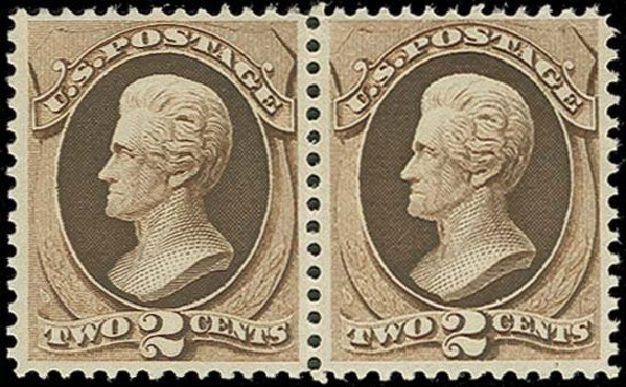 US Stamps Values Scott Cat. #157: 2c 1873 Jackson Continental. H.R. Harmer, Oct 2014, Sale 3006, Lot 1218