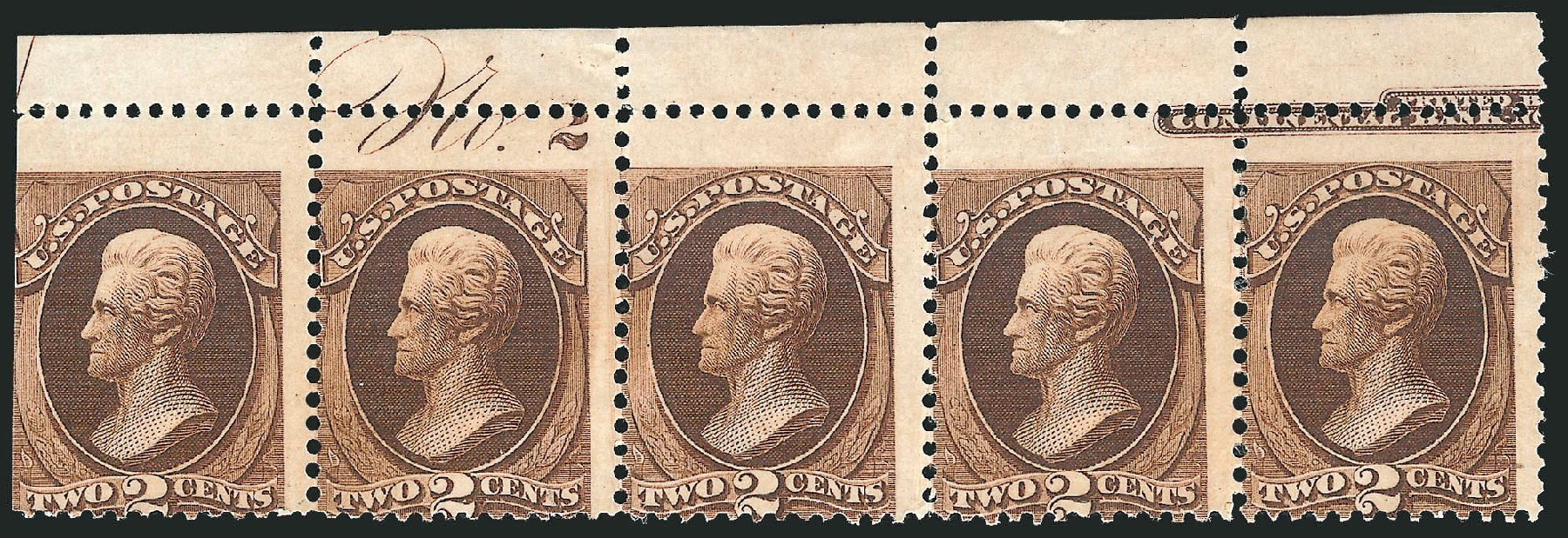 US Stamps Price Scott Catalogue # 157 - 2c 1873 Jackson Continental. Robert Siegel Auction Galleries, Jul 2014, Sale 1077, Lot 148