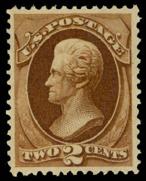 US Stamps Prices Scott Catalogue 157: 2c 1873 Jackson Continental. Daniel Kelleher Auctions, May 2015, Sale 669, Lot 2650