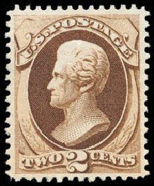 Costs of US Stamp Scott Cat. # 157: 2c 1873 Jackson Continental. Schuyler J. Rumsey Philatelic Auctions, Apr 2015, Sale 60, Lot 2161