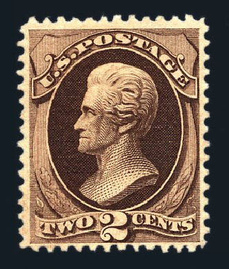 Prices of US Stamp Scott Catalogue #157: 2c 1873 Jackson Continental. Harmer-Schau Auction Galleries, Aug 2015, Sale 106, Lot 1512