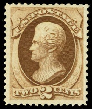Value of US Stamp Scott # 157: 2c 1873 Jackson Continental. Daniel Kelleher Auctions, May 2014, Sale 653, Lot 2116