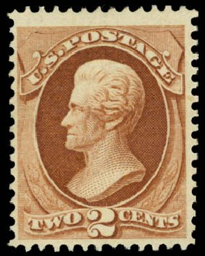 Costs of US Stamp Scott Catalogue # 157: 2c 1873 Jackson Continental. Daniel Kelleher Auctions, Jan 2015, Sale 663, Lot 1396