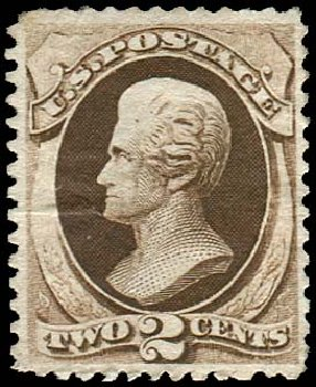 Prices of US Stamp Scott 157: 2c 1873 Jackson Continental. Regency-Superior, Jan 2015, Sale 109, Lot 816