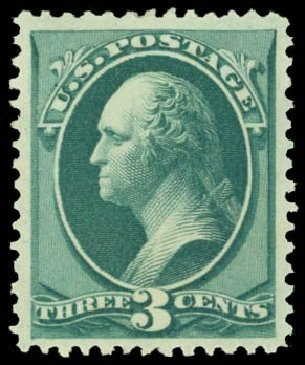 Prices of US Stamp Scott Cat. #158 - 1873 3c Washington Continental. Daniel Kelleher Auctions, May 2014, Sale 653, Lot 2117