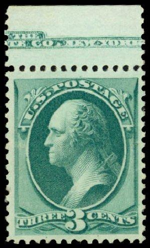 US Stamp Price Scott Catalogue 158: 3c 1873 Washington Continental. Daniel Kelleher Auctions, Jan 2015, Sale 663, Lot 1397