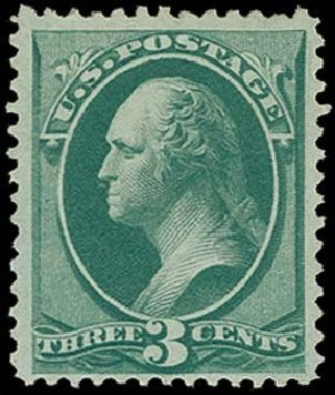 Cost of US Stamps Scott Catalogue #158: 1873 3c Washington Continental. H.R. Harmer, Oct 2014, Sale 3006, Lot 1219