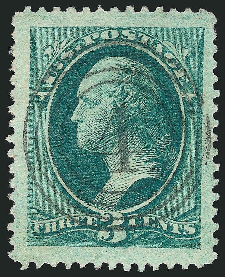 US Stamps Values Scott Catalogue #158: 3c 1873 Washington Continental. Robert Siegel Auction Galleries, Sep 2014, Sale 1078, Lot 299