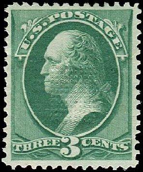 Cost of US Stamp Scott Catalog # 158 - 1873 3c Washington Continental. Regency-Superior, Nov 2014, Sale 108, Lot 340