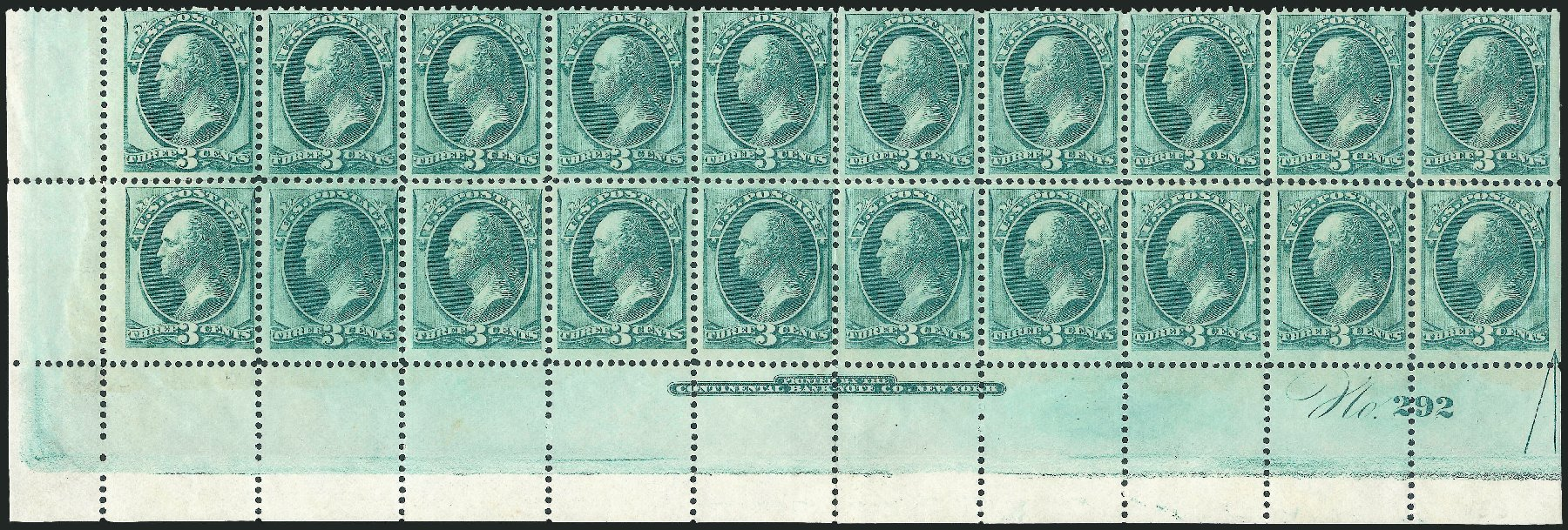 Cost of US Stamps Scott Catalogue # 158: 3c 1873 Washington Continental. Robert Siegel Auction Galleries, Nov 2014, Sale 1084, Lot 3420