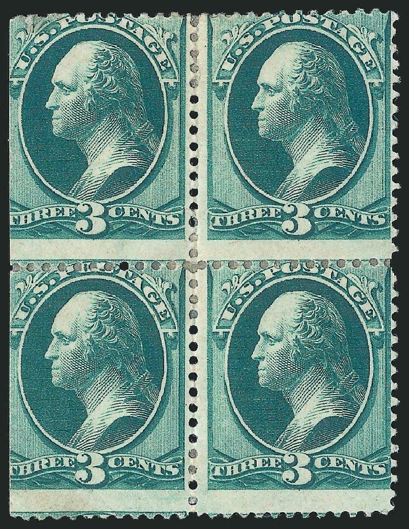 Price of US Stamps Scott 158 - 3c 1873 Washington Continental. Robert Siegel Auction Galleries, Nov 2014, Sale 1084, Lot 3421