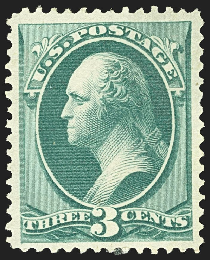 Prices Of US Stamps Scott Catalog 158 1873 3c Washington Continental Robert Siegel Auction