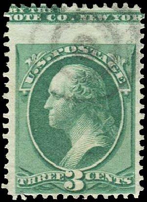 US Stamp Values Scott Catalog 158 - 1873 3c Washington Continental. Regency-Superior, Nov 2014, Sale 108, Lot 1492