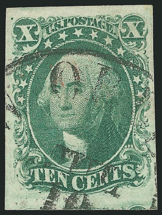 Cost of US Stamps Scott Catalog #16 - 1855 10c Washington. Robert Siegel Auction Galleries, Dec 2014, Sale 1090, Lot 1143