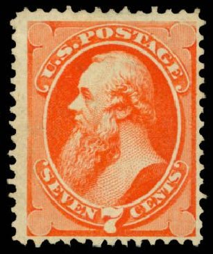 Value of US Stamp Scott 160 - 7c 1873 Stanton Continental. Daniel Kelleher Auctions, Dec 2014, Sale 661, Lot 150