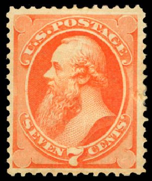 Costs of US Stamp Scott Catalogue # 160 - 7c 1873 Stanton Continental. Daniel Kelleher Auctions, Aug 2015, Sale 672, Lot 2430