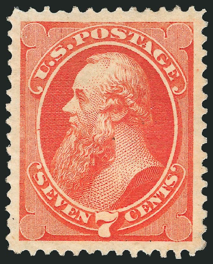 Costs of US Stamp Scott #160 - 1873 7c Stanton Continental. Robert Siegel Auction Galleries, Dec 2014, Sale 1090, Lot 1330