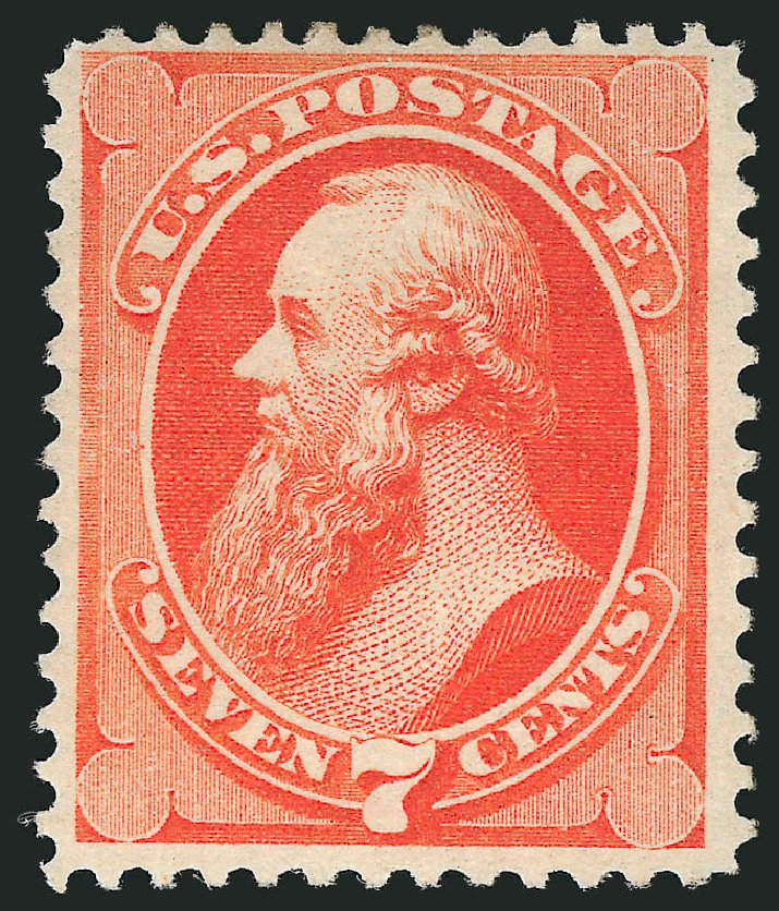 US Stamps Values Scott # 160 - 7c 1873 Stanton Continental. Robert Siegel Auction Galleries, Feb 2015, Sale 1092, Lot 1130