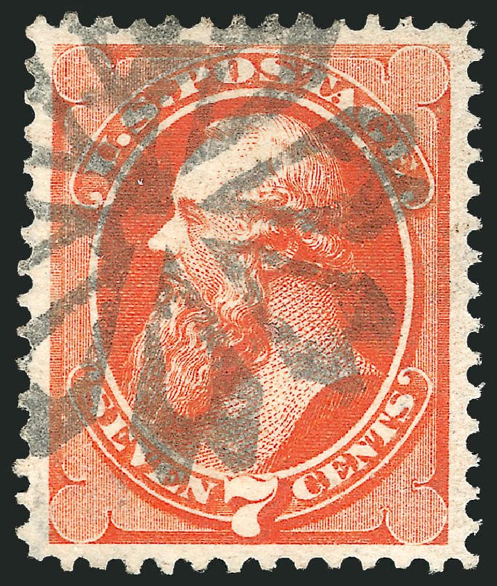 Costs of US Stamps Scott #160 - 1873 7c Stanton Continental. Robert Siegel Auction Galleries, Feb 2015, Sale 1092, Lot 1131