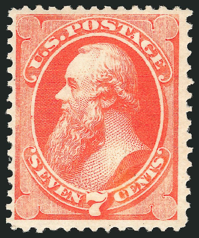 Value of US Stamps Scott # 160 - 7c 1873 Stanton Continental. Robert Siegel Auction Galleries, Apr 2015, Sale 1096, Lot 301