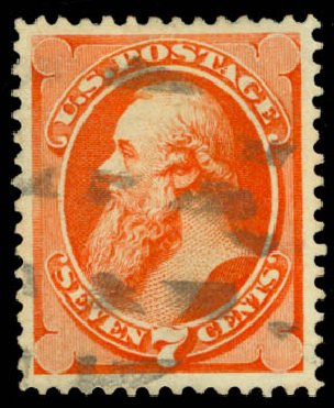 US Stamps Price Scott Cat. #160 - 1873 7c Stanton Continental. Daniel Kelleher Auctions, Jan 2015, Sale 663, Lot 1404