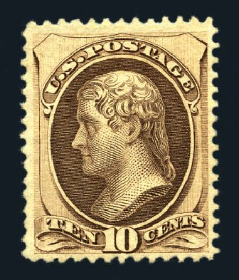 US Stamps Prices Scott Catalogue #161: 10c 1873 Jefferson Continental. Harmer-Schau Auction Galleries, Aug 2015, Sale 106, Lot 1518