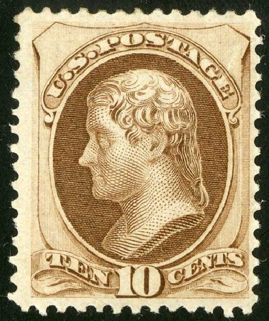 US Stamp Price Scott Cat. 161 - 1873 10c Jefferson Continental. Spink Shreves Galleries, Jul 2015, Sale 151, Lot 149