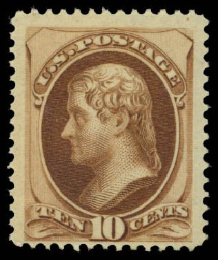 Prices of US Stamps Scott #161 - 1873 10c Jefferson Continental. Daniel Kelleher Auctions, May 2015, Sale 669, Lot 2651