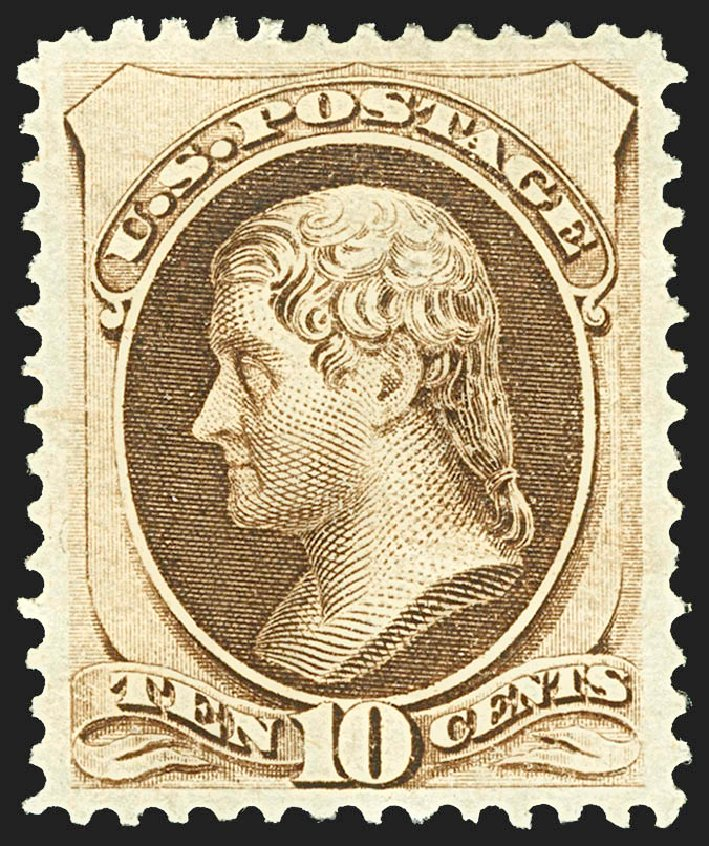 US Stamps Price Scott 161 - 1873 10c Jefferson Continental. Robert Siegel Auction Galleries, Jul 2015, Sale 1107, Lot 276