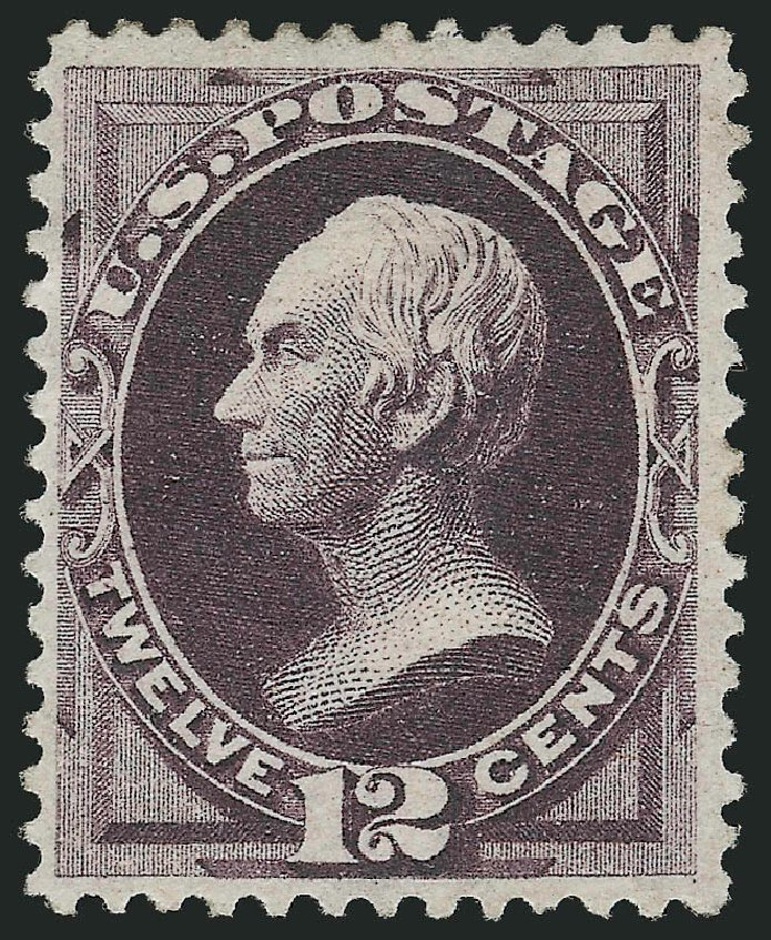 Costs of US Stamps Scott Catalog # 162 - 1873 12c Clay Continental. Robert Siegel Auction Galleries, Jul 2015, Sale 1107, Lot 277