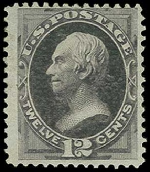 Values of US Stamps Scott Catalogue # 162: 1873 12c Clay Continental. H.R. Harmer, Jun 2015, Sale 3007, Lot 3218
