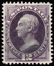 Values of US Stamp Scott Catalogue #162: 12c 1873 Clay Continental. Schuyler J. Rumsey Philatelic Auctions, Apr 2015, Sale 60, Lot 2168