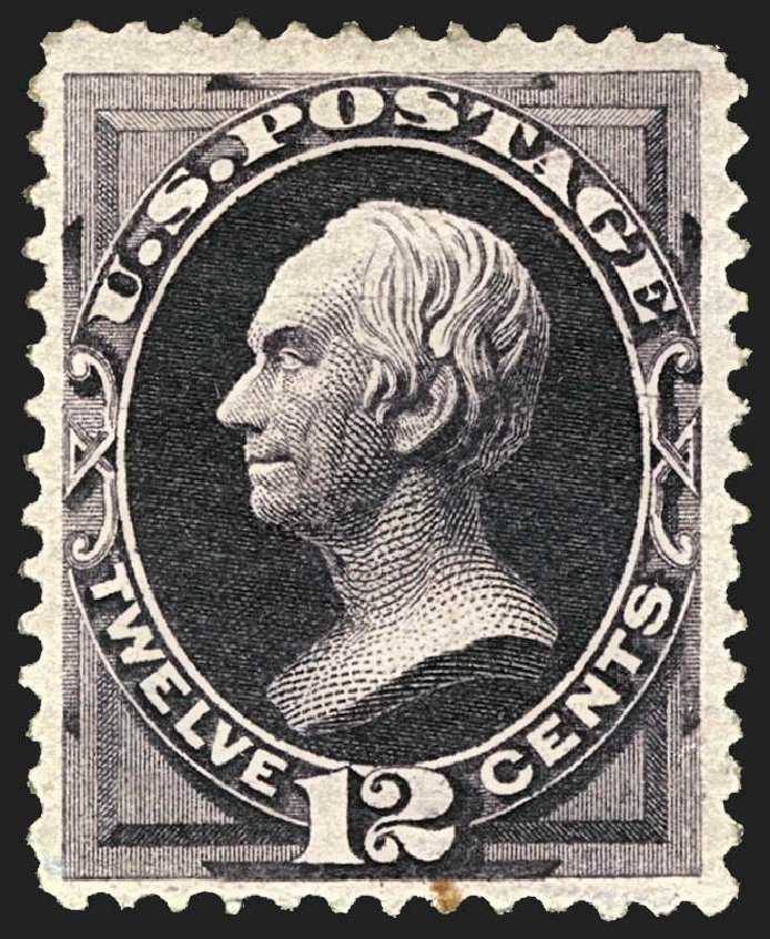Prices of US Stamps Scott #162: 1873 12c Clay Continental. Robert Siegel Auction Galleries, Jul 2015, Sale 1107, Lot 278