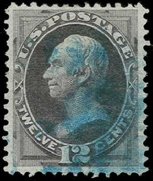 US Stamps Prices Scott Cat. #162: 12c 1873 Clay Continental. H.R. Harmer, Jun 2015, Sale 3007, Lot 3219