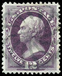 Values of US Stamps Scott Catalog # 162: 12c 1873 Clay Continental. Schuyler J. Rumsey Philatelic Auctions, Apr 2015, Sale 60, Lot 2169