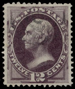 Value of US Stamps Scott Cat. # 162 - 1873 12c Clay Continental. Daniel Kelleher Auctions, May 2015, Sale 669, Lot 2655