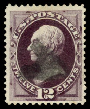 US Stamps Prices Scott Cat. #162 - 1873 12c Clay Continental. Daniel Kelleher Auctions, Aug 2015, Sale 672, Lot 2432