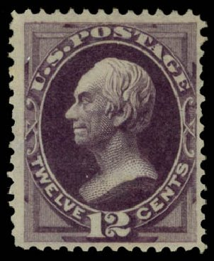 Value of US Stamp Scott Cat. # 162 - 1873 12c Clay Continental. Daniel Kelleher Auctions, May 2015, Sale 669, Lot 2653