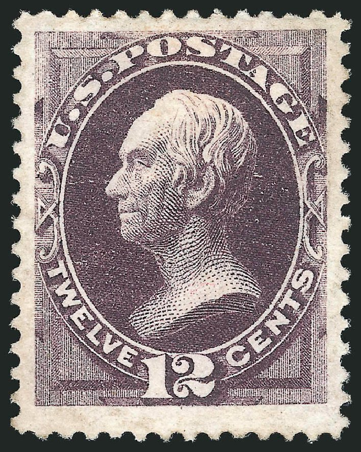 Values of US Stamp Scott Catalogue #162 - 12c 1873 Clay Continental. Robert Siegel Auction Galleries, Jun 2015, Sale 1100, Lot 33