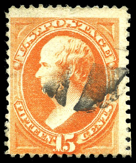 US Stamp Values Scott #163 - 15c 1873 Webster Continental. Matthew Bennett International, Feb 2015, Sale 351, Lot 127