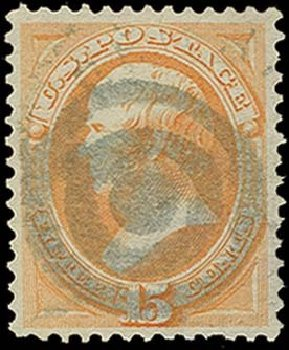 Prices of US Stamps Scott Catalogue 163: 15c 1873 Webster Continental. H.R. Harmer, Oct 2014, Sale 3006, Lot 1217