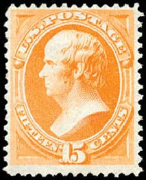 US Stamps Prices Scott 163: 15c 1873 Webster Continental. Schuyler J. Rumsey Philatelic Auctions, Apr 2015, Sale 60, Lot 2170
