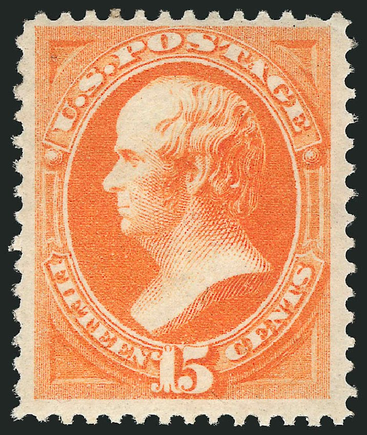 Price of US Stamps Scott Catalogue # 163 - 15c 1873 Webster Continental. Robert Siegel Auction Galleries, Apr 2015, Sale 1096, Lot 304