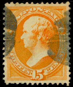 US Stamp Value Scott Catalog # 163: 15c 1873 Webster Continental. Daniel Kelleher Auctions, May 2014, Sale 653, Lot 2122