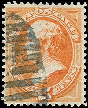US Stamp Values Scott Catalog # 163 - 1873 15c Webster Continental. Regency-Superior, Jan 2015, Sale 109, Lot 822