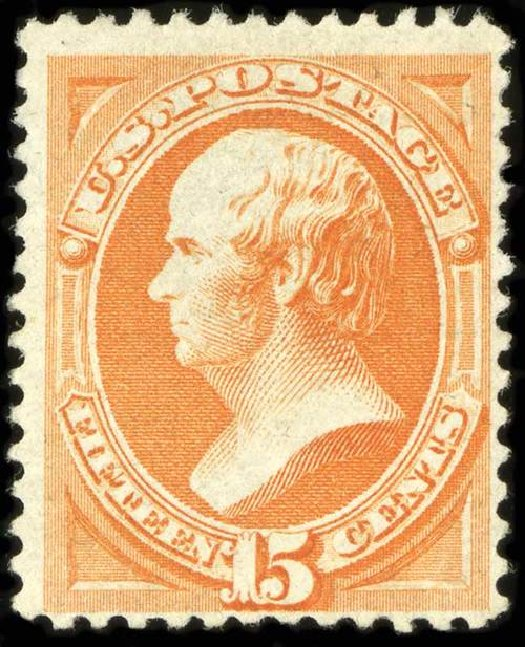 US Stamps Value Scott Cat. #163 - 1873 15c Webster Continental. Spink Shreves Galleries, Jul 2015, Sale 151, Lot 152