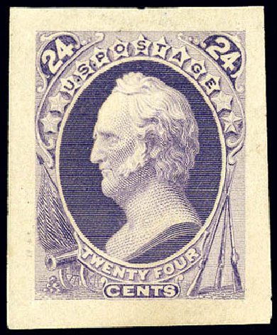 Value of US Stamps Scott Catalogue 164 - 1873 24c Winfield Scott Continental. Matthew Bennett International, Dec 2008, Sale 330, Lot 1659