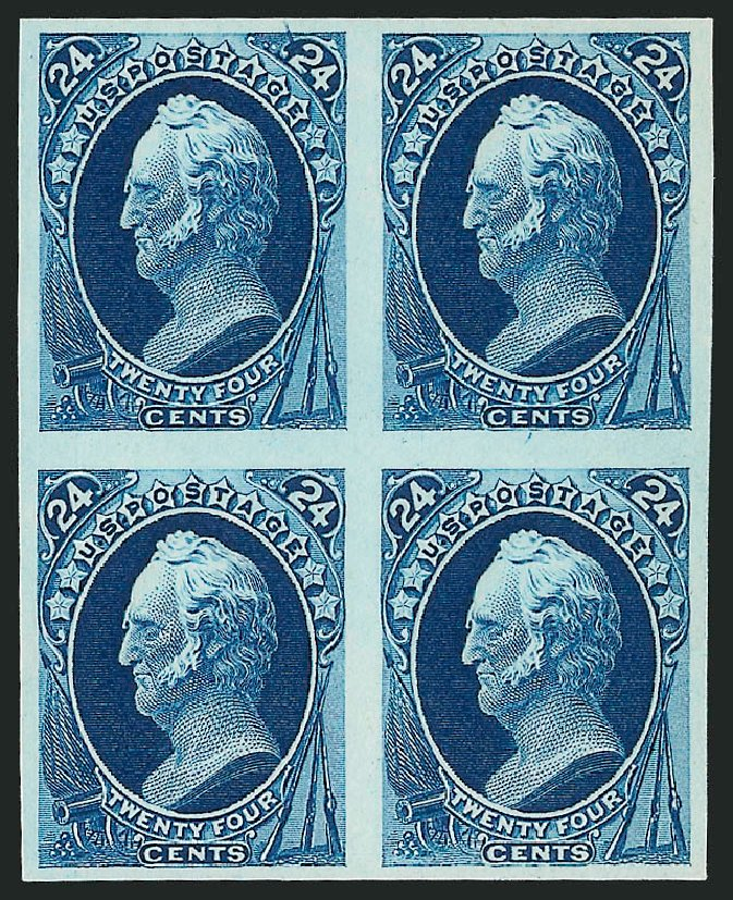 US Stamp Value Scott 164: 1873 24c Winfield Scott Continental. Robert Siegel Auction Galleries, Dec 2012, Sale 1037, Lot 1160
